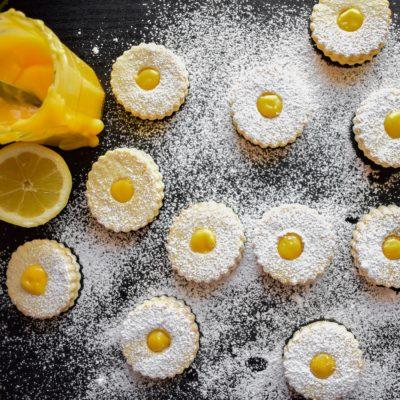 Μπισκότα γεμιστά με Κρέμα Λεμονιού