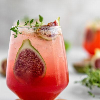 Cocktail με Σύκο, Θυμάρι και Gin