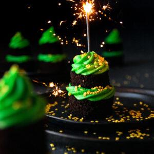 Χριστουγεννιάτικα Δεντράκια Mini Cakes