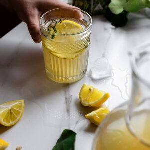 Σπιτική Λεμονάδα με Πράσινο Τσάι & Ελληνικά Φύλλα Στέβια Stelvia (χωρίς ζάχαρη)