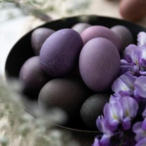 Πασχαλινά Αυγά με Φυσικό Τρόπο Βαφής (Παντζάρι & Μωβ Λάχανο)