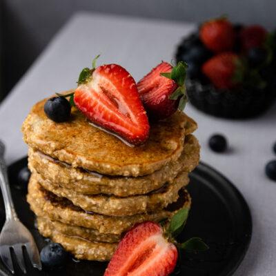 Υγιεινά Pancakes Βρώμης Χωρίς Ζάχαρη (5 υλικά)