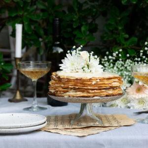 Pre-Wedding Τούρτα από Κρέπες & Κρέμα από Amaretto και Εσπρέσο